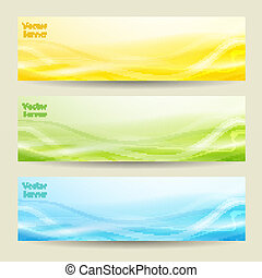 set of three abstract banners.