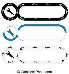 Set of three abstract buttons for your text and spanner