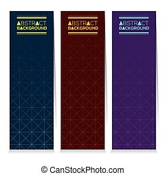 Three Abstract Vertical Banners