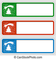 set of three boxes for any text with a Christmas motif
