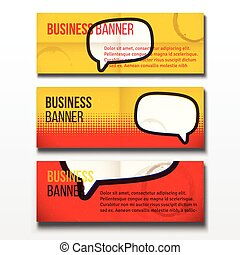 Set of three business banners