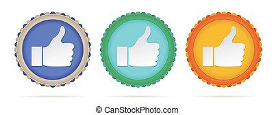 thumb up circles