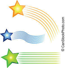Set of three colored pictures logo