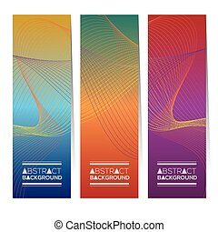 Colorful Abstract Vertical Banners
