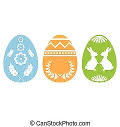 Easter egg silhouette