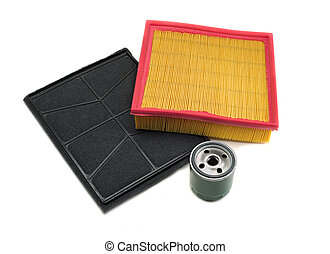 set of three filters for motor vehicles