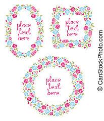 Set Of Three Floral Wreaths
