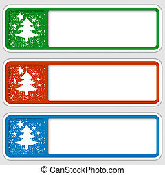 set of three frames for any text with a Christmas motif
