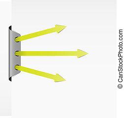 shootout - Set of three green arrows in shootout position.