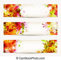 three headers - Set of three headers. Bright Abstract ...