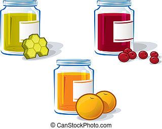 Set of Three Jam Jars #2 - A set of three jam jars for three...