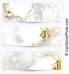 Christmas headers - set of three light Christmas headers...