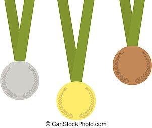 Set of three medals
