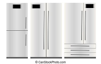 Set of three refrigerators
