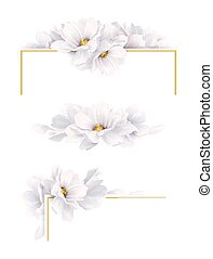 Set of three version of decoration invitation or ...
