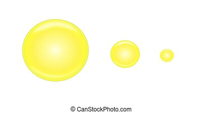 Set of Three Yellow Buttons