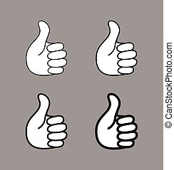 Set of thumb up icons