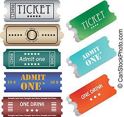 set of ticket admit one vector