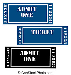 Set of tickets,vector illustration