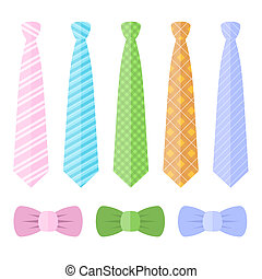 Set of Ties and Bow Ties. Vector