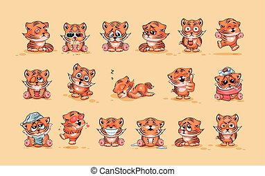 Set of Tiger cubs