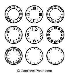 Clock face - Set of time icons. Clock face