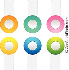 Set Of Toggle Buttons Collection - Set of toggle buttons on...