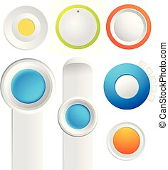 Set Of Toggle Buttons Collection - Set of toggle buttons...