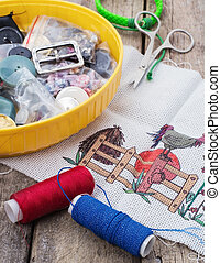 weaving,sewing and embroidery