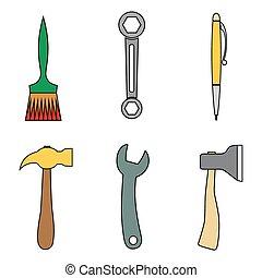 Set of tools.