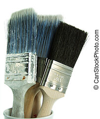 Set of Tools - Set of Brushes - isolated