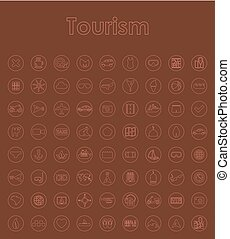 Set of tourism simple icons