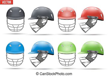 Set of Tradition Cricket Helmets