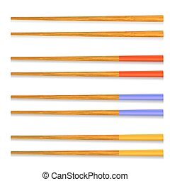 Set of Traditional Colored Asian Chopsticks