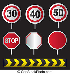 Set of traffic sign