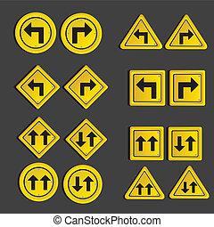 Set of traffic signs