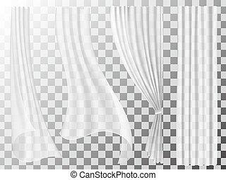 set of transparent curtains - Set of transparent curtains ...