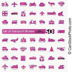Set of transport stickers