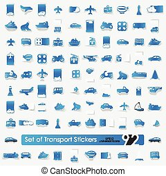 Set of transport stickers