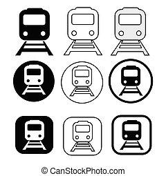Set of transport Train icon