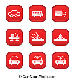 set of Transportation icon, vector