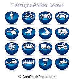 Set of transportational icons