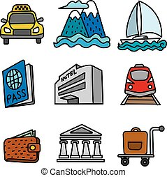 travel and resort icons