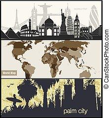 travel banner for facebook Poster vector Design