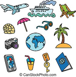 travel concept icons