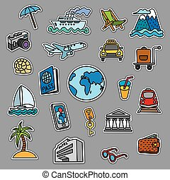 travel concept stickers