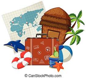 Set of travel element