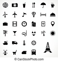 Set of travel icons design, Vector illustration.