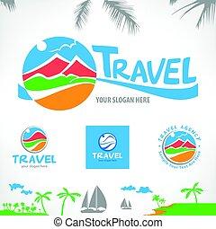 Set of travel symbols