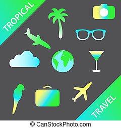 Set of traveling symbol.